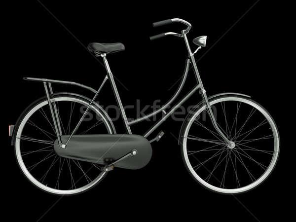 Nero bicicletta isolato rendering 3d bike vintage Foto d'archivio © bayberry
