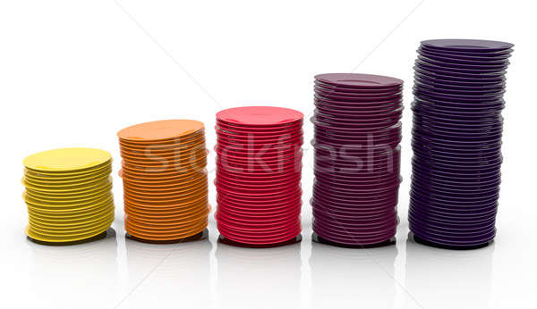 Colorido placas 3d fondo naranja Foto stock © bayberry