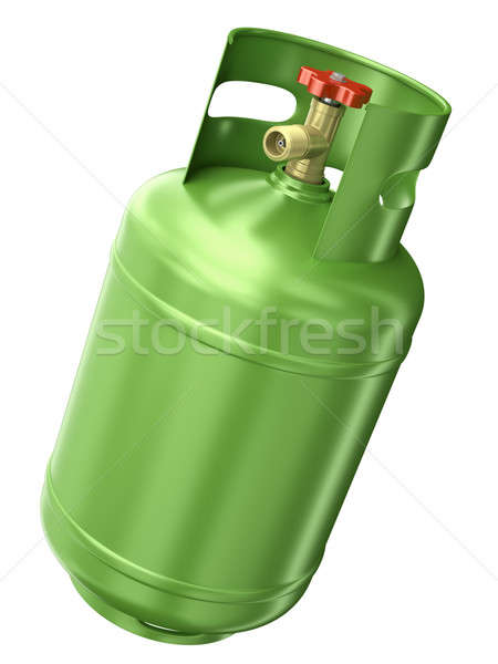 Vert gaz contenant isolé blanche rendu 3d Photo stock © bayberry