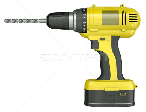 Yellow cordless drill Stock photo © bayberry