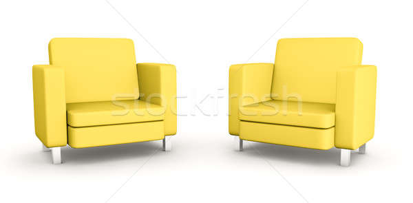 Two yellow armchairs  Stock photo © bayberry
