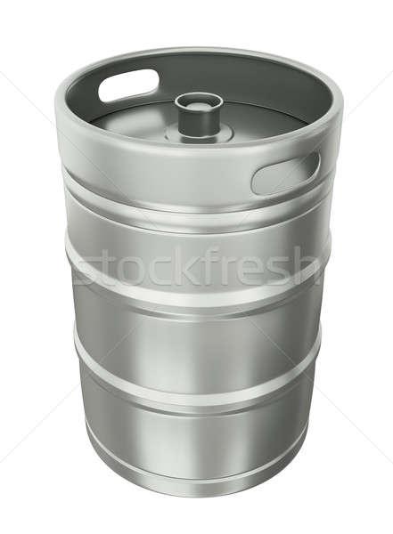 пива белый 3d визуализации пить стали чистой Сток-фото © bayberry