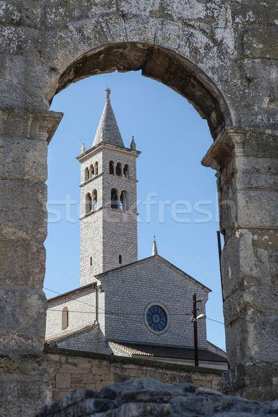 Aziz kilise Hırvatistan çan kule Stok fotoğraf © bayberry