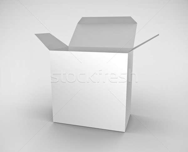 Blanco cuadro 3D prestados ilustración abierto Foto stock © bayberry