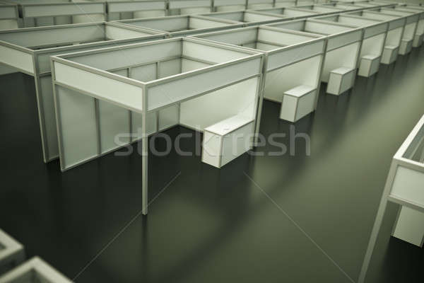 Stockfoto: Handel · show · lege · 3d · render · business · bouw