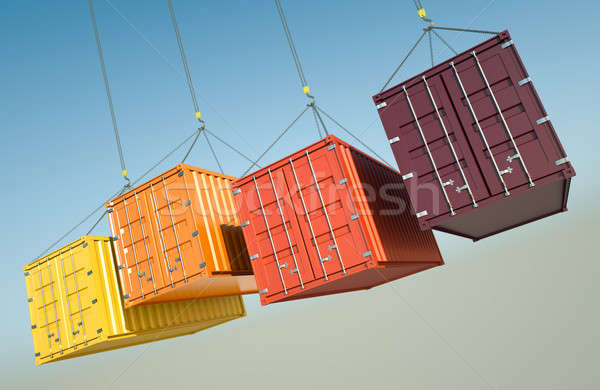 Shipping Containers  Stock photo © bayberry