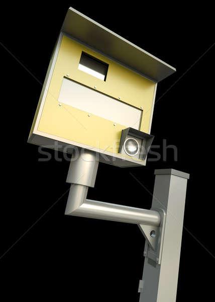 Tráfico velocidad cámara amarillo negro 3d Foto stock © bayberry