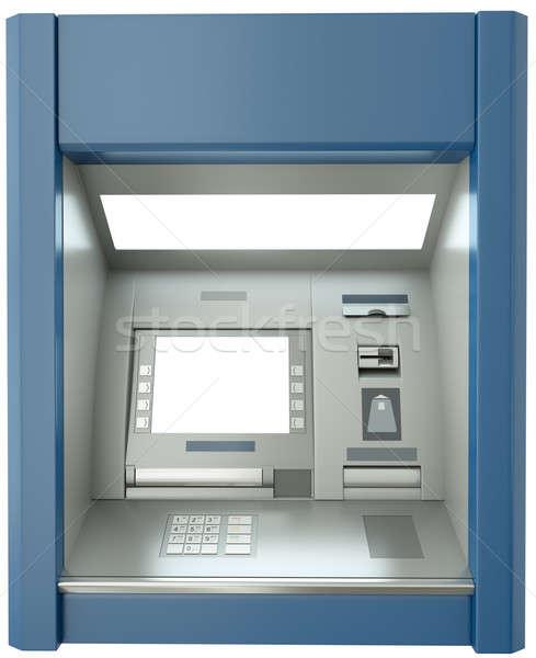 Caixa eletrônico máquina tela 3d render dinheiro monitor Foto stock © bayberry