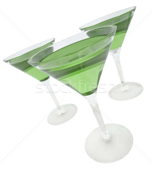 Verde bebidas tres martini gafas 3d Foto stock © bayberry