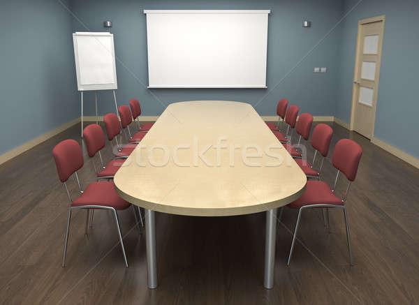 Vacío Screen rotafolio 3d reunión Foto stock © bayberry