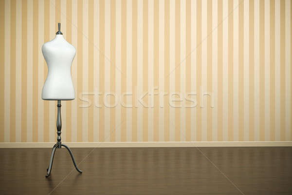 Próbababa üres belső fehér ruházat 3d render Stock fotó © bayberry