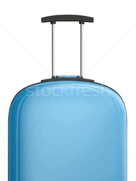 Viaje maleta azul manejar 3D prestados Foto stock © bayberry