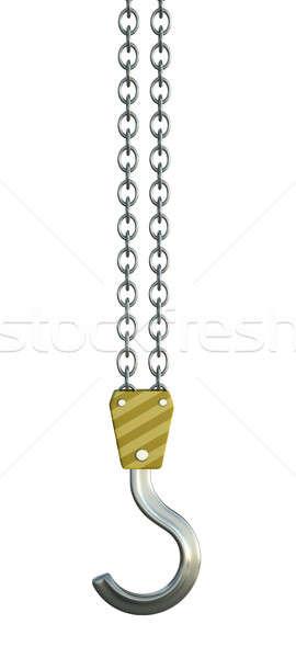 フック クレーン 孤立した 白 金属 産業 ストックフォト © bayberry