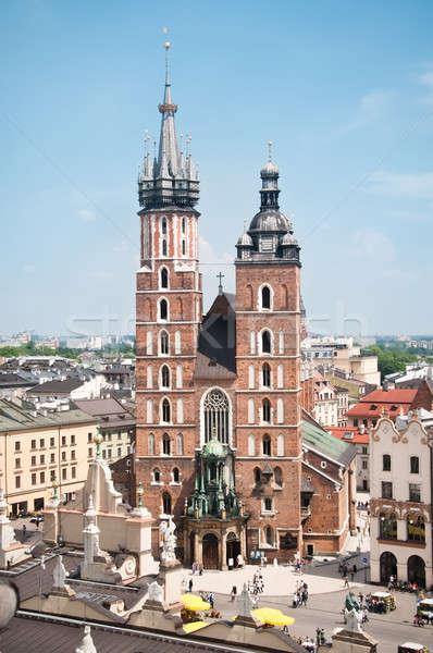 Templom Krakkó kilátás híres tájékozódási pont Lengyelország Stock fotó © bayberry