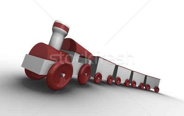Stock photo: Toy train