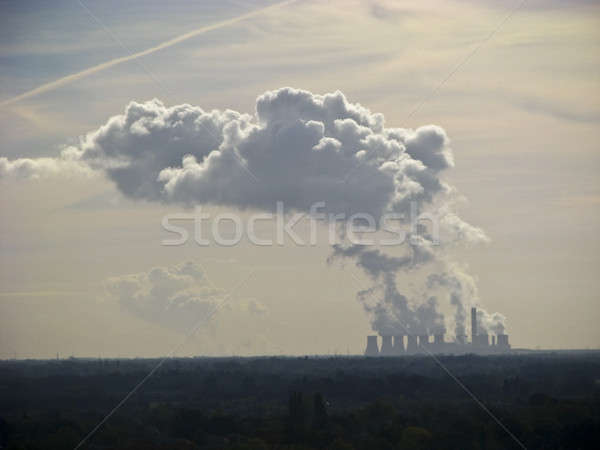 Plant chimneys belching out smoke  Stock photo © bayberry