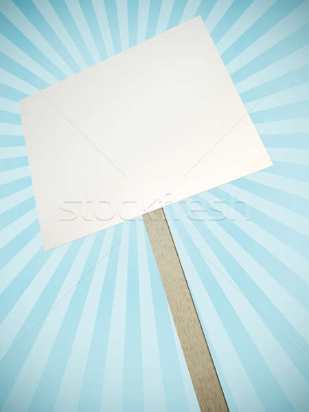Protesto afiş dekoratif rays 3d render soyut Stok fotoğraf © bayberry