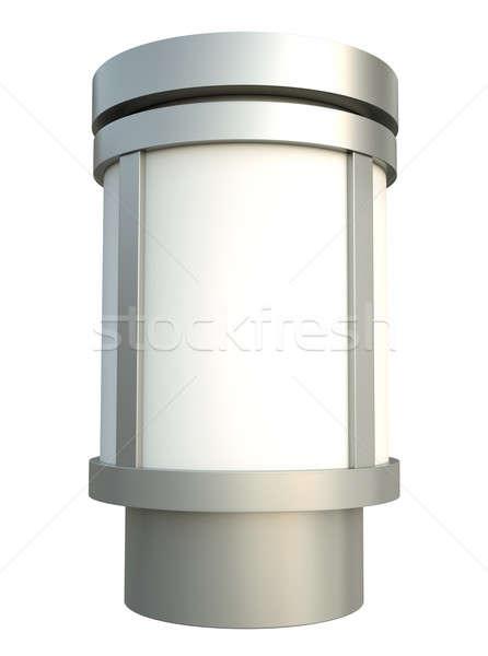 Reclame pijler 3d render stad teken stedelijke Stockfoto © bayberry