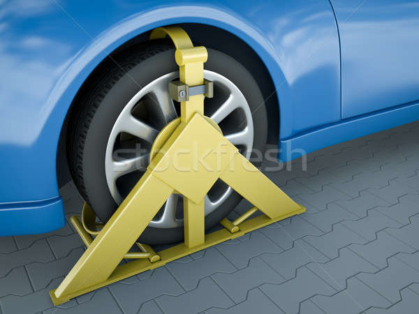 Wheel clamp Stock photo © bayberry