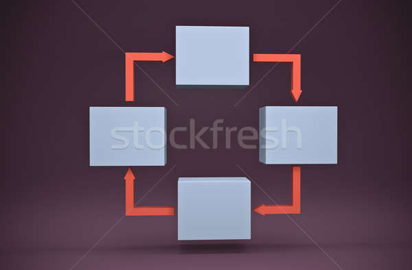 Flow chart  Stock photo © bayberry