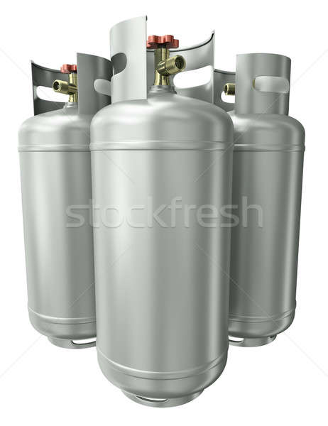 Three gas containers   Stock photo © bayberry