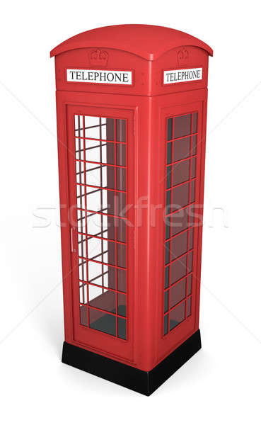 Brits telefoon kraam traditioneel Rood 3D Stockfoto © bayberry