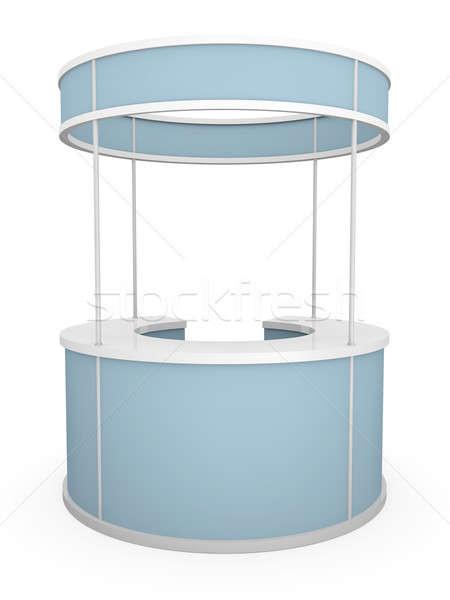 Stockfoto: Handel · stand · 3D · gerenderd · illustratie · business