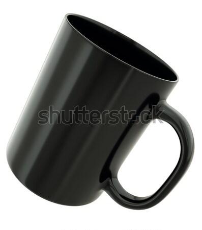 Negro taza aislado blanco 3d beber Foto stock © bayberry