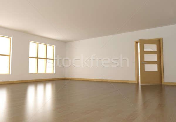 Habitación vacía vacío interior 3d casa pared Foto stock © bayberry