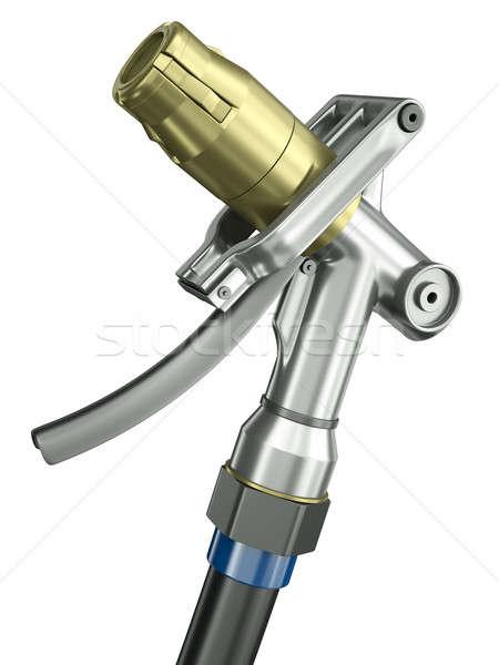 Ağızlık pompa yalıtılmış beyaz 3d render Metal Stok fotoğraf © bayberry