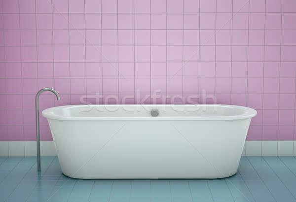 ванна белый ванную 3D ванны чистой Сток-фото © bayberry