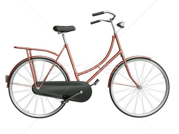 красный велосипед изолированный белый 3d визуализации город Сток-фото © bayberry