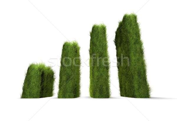 Verde consapevolezza grafico erba corporate Foto d'archivio © bayberry