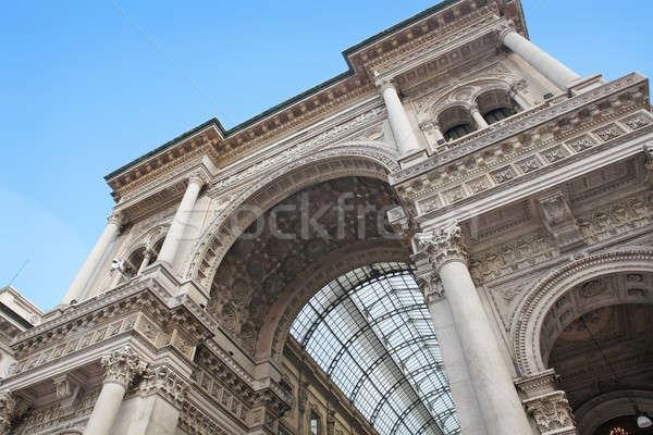 Milán hermosa fachada famoso Italia Foto stock © bayberry