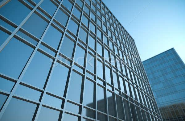 Edificios alto edificios de oficinas 3d vidrio ventana Foto stock © bayberry