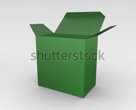 Verde cuadro 3D prestados ilustración abierto Foto stock © bayberry