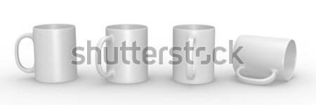 Blanco establecer 3D prestados ilustración Foto stock © bayberry