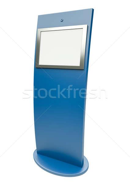 Información digital pantalla táctil 3d ordenador tecnología Foto stock © bayberry
