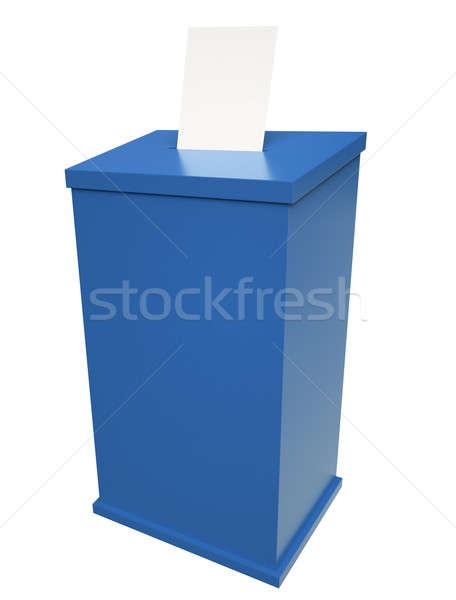 Votación cuadro azul 3d fondo votación Foto stock © bayberry