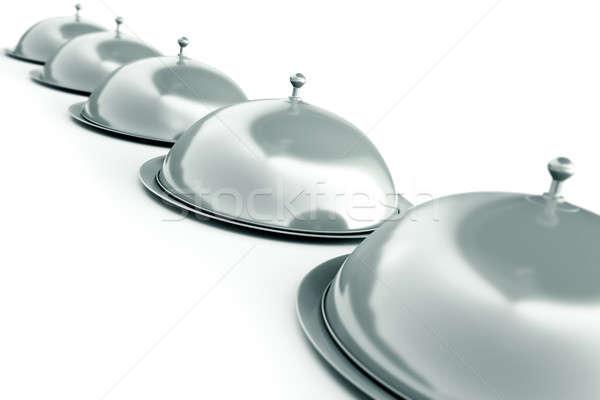 Plata 3d comedor comida objetos Foto stock © bayberry