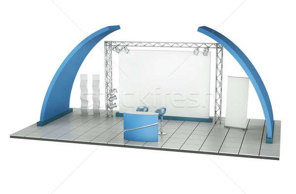 торговли выставка стоять 3D оказанный иллюстрация Сток-фото © bayberry