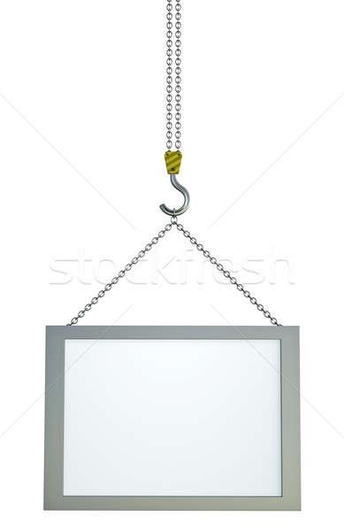 バナー フック 表示 3dのレンダリング 画面 チェーン ストックフォト © bayberry