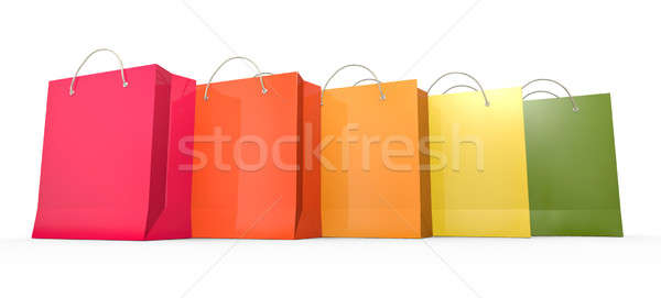 Five shopping bags  Stock photo © bayberry