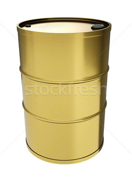 Gold oil drum Stock photo © bayberry