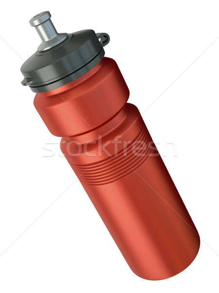 красный фляга спортивных 3d визуализации воды жидкость Сток-фото © bayberry