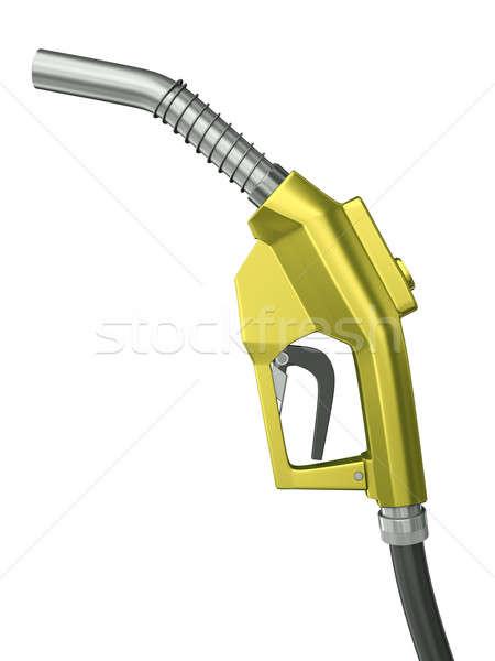 燃料 ノズル 黄色 孤立した 白 ストックフォト © bayberry