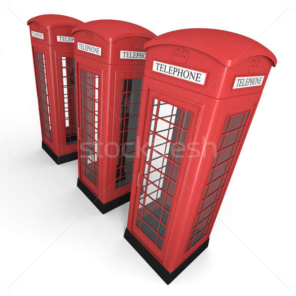 Tres teléfono británico alto calidad 3d Foto stock © bayberry