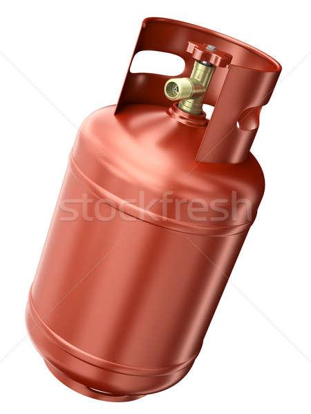 Rojo gas contenedor aislado blanco 3d Foto stock © bayberry