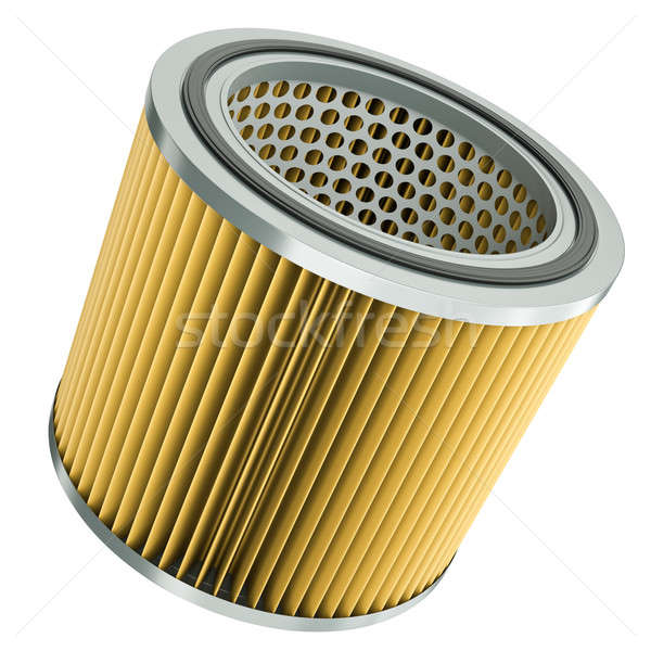 Hava filtre araba motor 3d render kâğıt Stok fotoğraf © bayberry