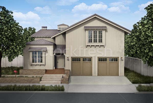 дома большой 3D оказанный изображение Сток-фото © bayberry